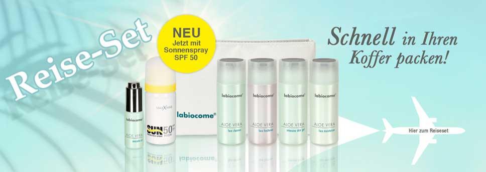 Aloe Vera Produkte im Reise-Set mit Kosmetiktasche